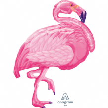 Flamingo Beach Large Foil Balloon 1pc